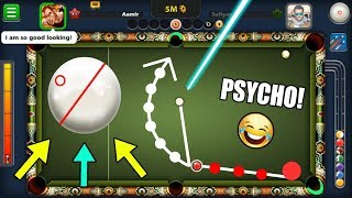 PSYCHO Player In 8 Ball Pool CAUGHT LIVE (funniest spin ever in 8 Ball Pool)
