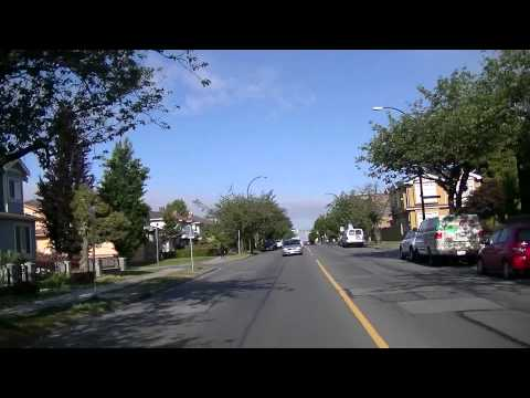 Vancouver BC Canada in Summer - Driving in residential neighborhoods - Alternative POV