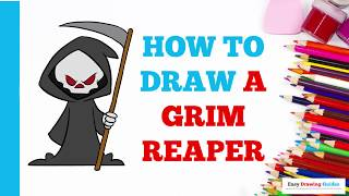 How to Draw the Grim Reaper in a Few Easy Steps: Drawing Tutorial for Kids and Beginners
