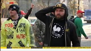 Sky News film Antifa Attacking Patriots & Trump Supporters Portland,USA 2018