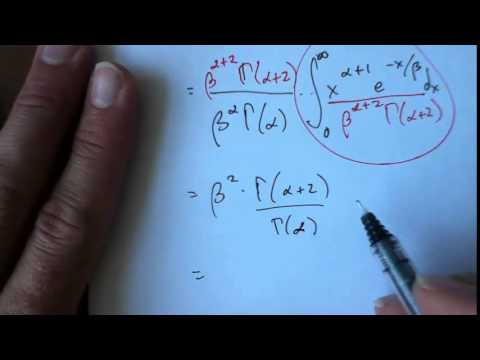 Gamma Mean, Variance, and Chi Squared