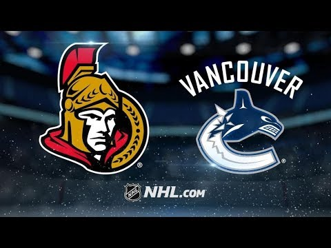 Ottawa Senators Vs. Vancouver Canucks | NHL Game Recap | October 10, 2017 | HD