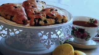 Homemade Lemon Blueberry Scones