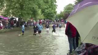 Quality! River Football takes place in Bourton-on-the-Water
