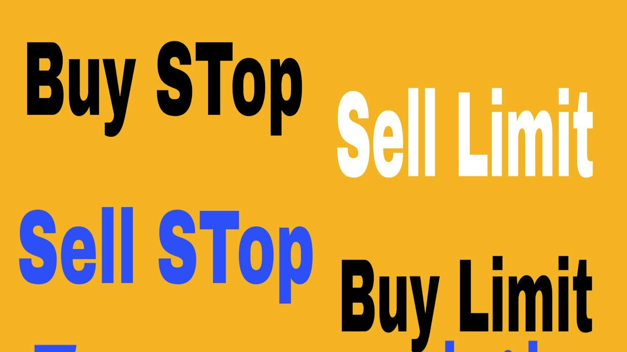 How To Set Buy Sell Stop Buy Sell Limit Types Of Marke Orders In Forex Trading -