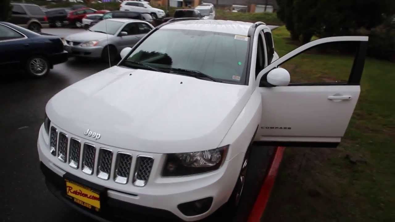 2014 Jeep Compass Latitude White Ed650896 Seattle Bellevue Youtube