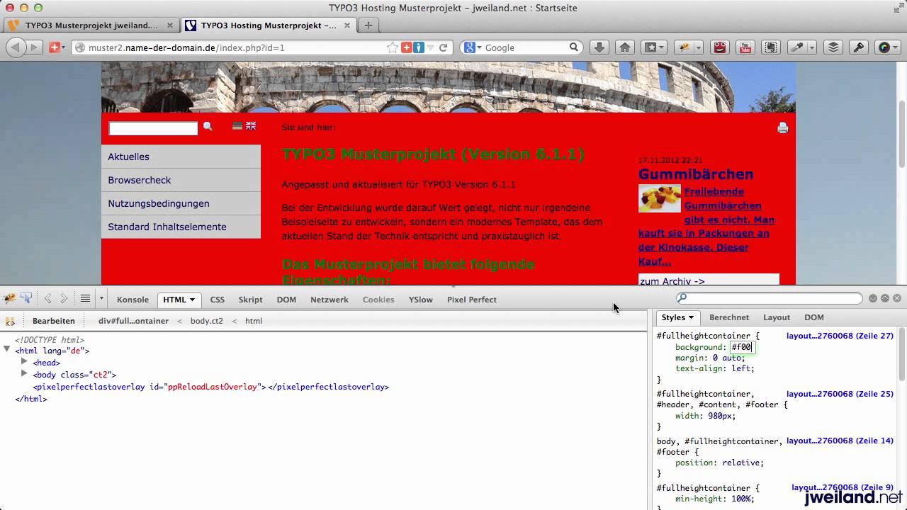 Hintergrund fur html