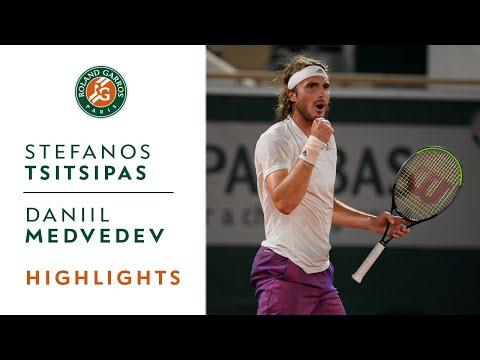 Stéfanos Tsitsipás vs Daniil Medvedev - Quarterfinals Highlights I Roland-Garros 2021