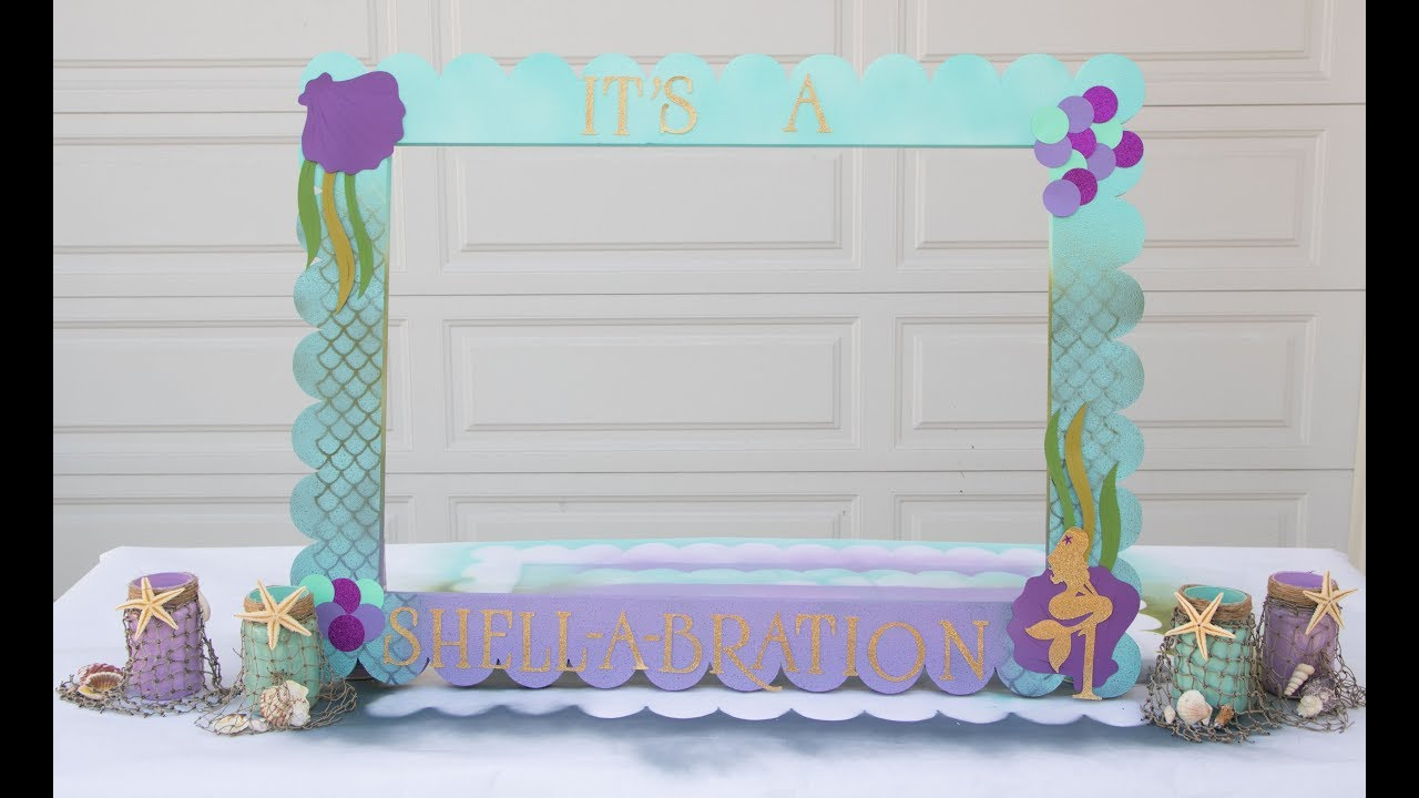 DIY Mermaid Theme Craft and Decor- Mermaid Frame Idea - YouTube