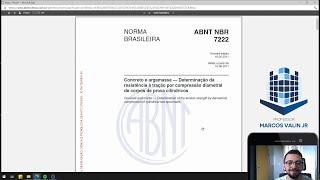 NBR 7222:2011  - Concreto e argamassa: Determinação da resistência à tração por compressão diametral