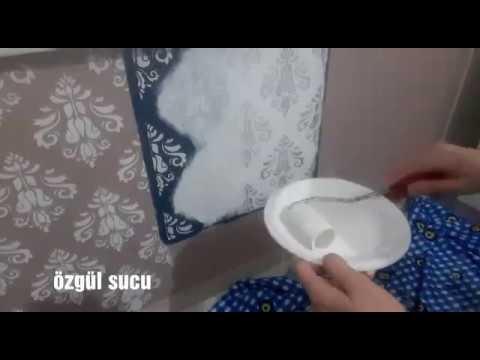 Duvara stencil uygulama instagram  ozgulle_hayalet_tasarla_boya