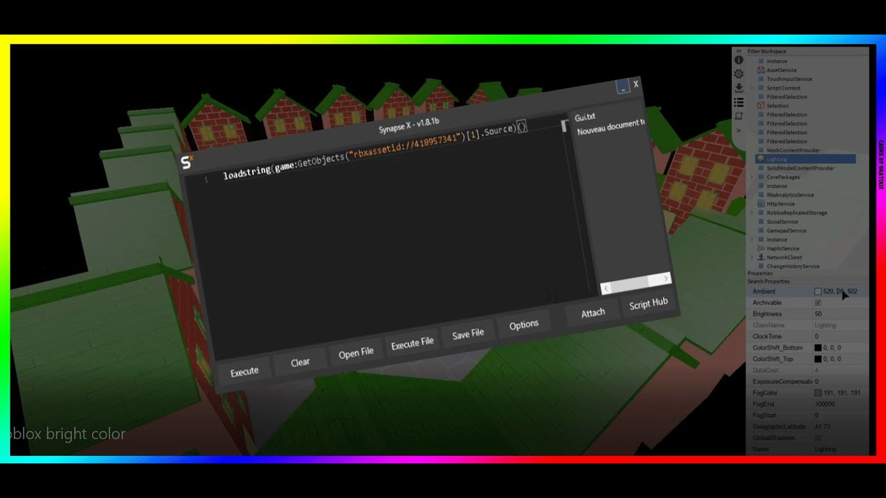 Roblox Script How To Change The Brightness And Color With Dex