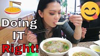 How to Eat Pho! Pho Tran. Best Pho in Houston! Ft. Kayteesowicked🍜