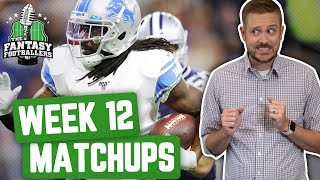 Fantasy Football 2019 - Week 12 Matchups + In-or-Out, All Chewed Up - Ep. #824