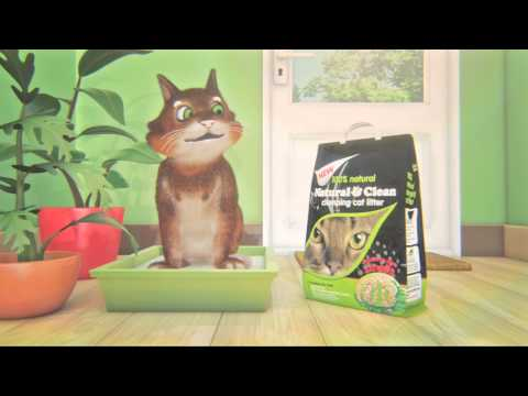Natural and Clean 20s TV advert - Cat litter