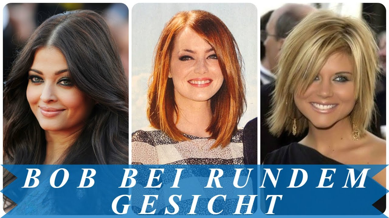 Coole Bob Frisuren Für Runde Gesichter Youtube
