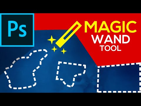✔️Magic Wand Tool In Photoshop | Selection Tools Part-4 | Photoshop Tutorials