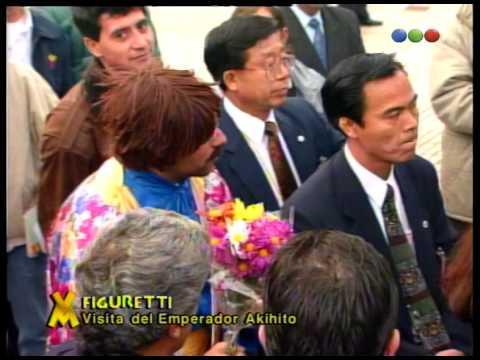 Figuretti visita al Emperador Akihito parte 02 - Videomatch 1997