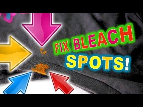 Fix Bleach Spots On Clothing Easy Diy Youtube