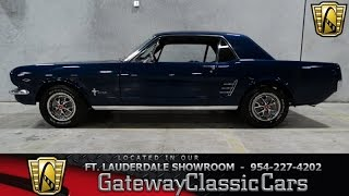 Stock #87 1966 Ford Mustang GatewayClassicCars of Fort Lauderdale