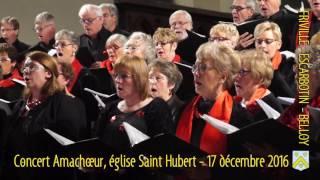 Ensemble vocal Amachoeur à l'église Saint Hubert, 17 décembre 2016