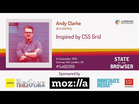 #Sotb2019 - Andy Clarke - Inspired By CSS Grid