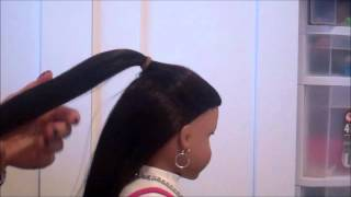 How to do a Bow Hairtstyle on your American Girl Doll! (Just using Hair!) :)