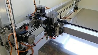 Large scale DIY 3D printer - 1200 x 1200mm print bed - Build progress and test print preview