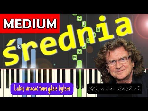 🎹 Lubię Wracać Tam, Gdzie Byłem (Zbigniew Wodecki) - Piano Tutorial (średnia wersja) 🎹