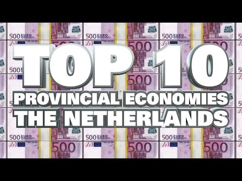 Top 10 Largest Provincial Economies in the Netherlands 2014