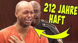 So reagierte dieser Gefangene auf die Anhörung seiner Verurteilung!
