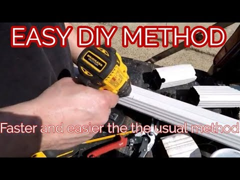 Easy Cutting Downspout Rain Conductor Tube Youtube