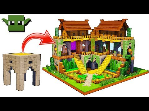 Minecraft 2-Player Survival Base (EASY 5X5 BUILDING SYSTEM)