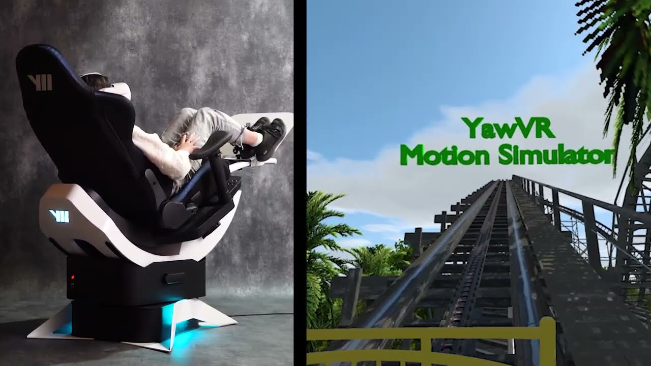 Yaw2 Motion Control Accuracy Test with NoLimits Roller Coaster Ride
