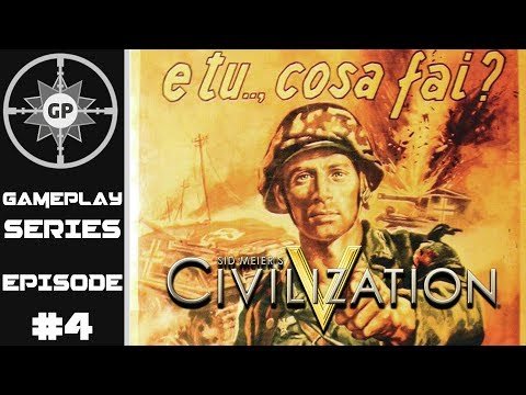 Dominating the Mediterranean - Civilization V R.E.D. WWII Edition Revived Italy Series #4