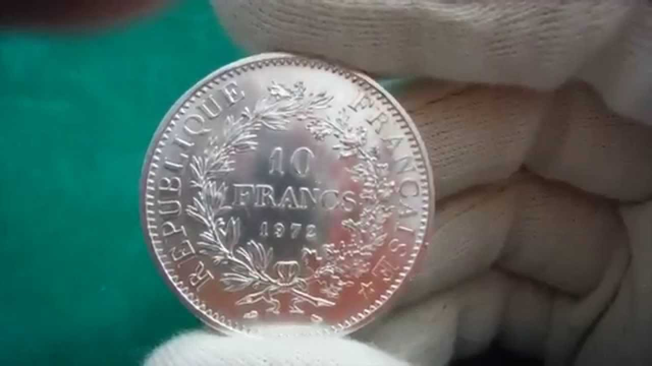 Pieces De Monnaie Francaises 10 Et 50 Francs Hercule Youtube