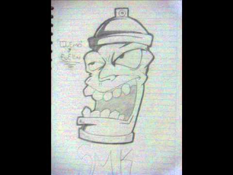 BLANCO y NEGRO  smk family crew dibujos quemo  rap cultura calle