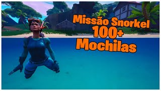 SHOWING THE MISSION SNORKEL & 100 SKIN + BACKPACKS | FORTNITE