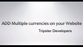 Add Multiple Currency option to your Website