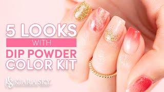 5 Looks Using the Dip Powder Color Kit 💅🏻Nail Inspo 💕Dip Powder Starter Kit
