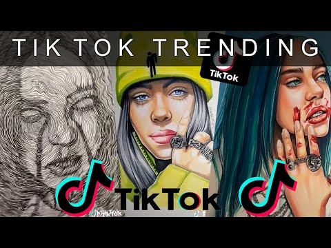 tik-tok-drawing-billie-eilish-#6