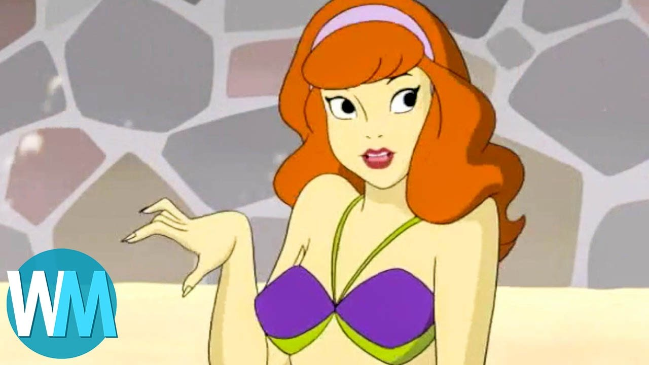 Real famous cartoon characters in bikinis type white
