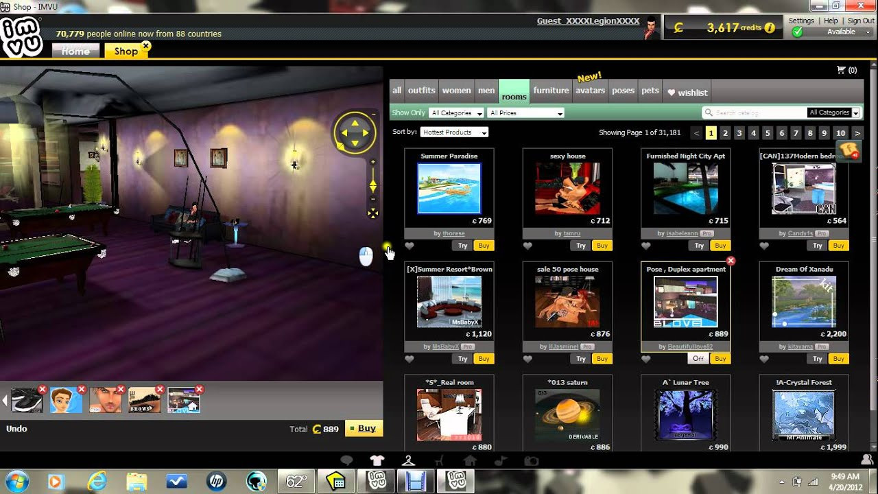 How To Access New Room On Imvu