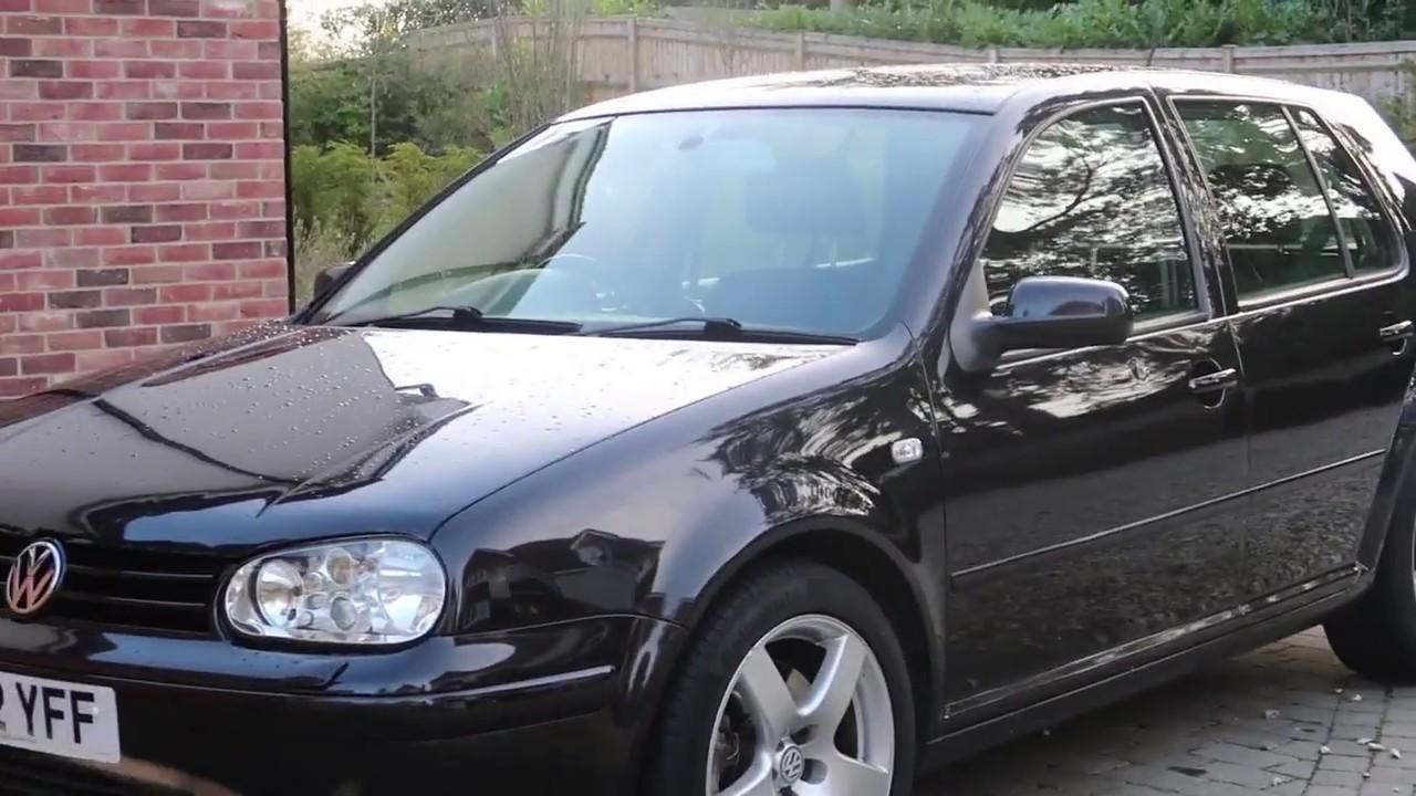 volkswagen golf 2 8 v6 4motion petrol 5dr 2002 black youtube. Black Bedroom Furniture Sets. Home Design Ideas