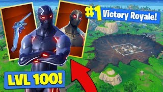 *NEW* LEVEL 100 OMEGA SKIN GAMEPLAY In Fortnite Battle Royale!
