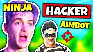 NINJA FINDS HACKER USING AIMBOT | Fortnite Daily Funny Moments Ep.96