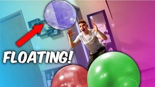 INSANE FROZEN HELIUM WUBBLE BALL CHALLENGE ( Super Wubble Bubble Ball Experiment )