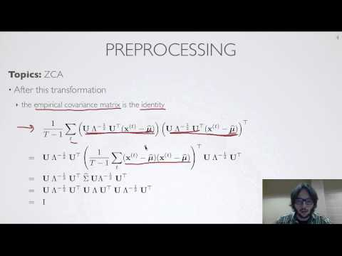 Neural networks [8.7] : Sparse coding - ZCA preprocessing