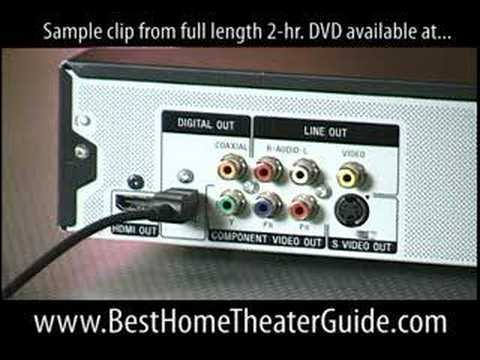 DVD Audio Outputs SPDIF Optical Theater Help Surround 5.1