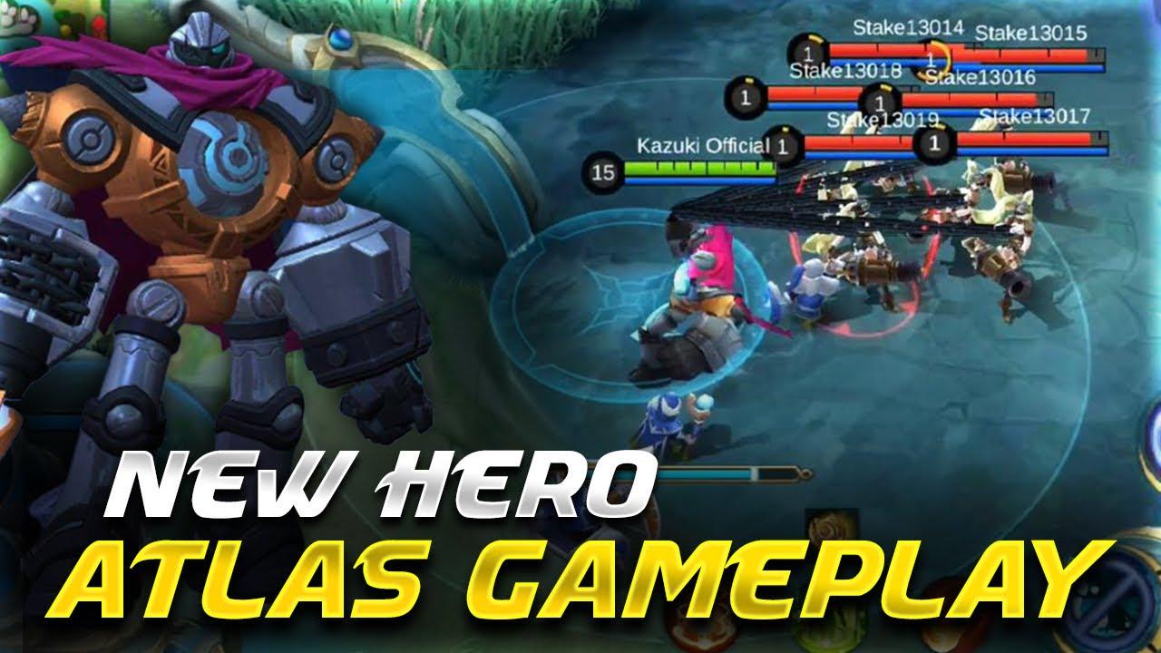 new hero atlas is the best tank   upcoming hero gameplay   mobile legends bang bang  -